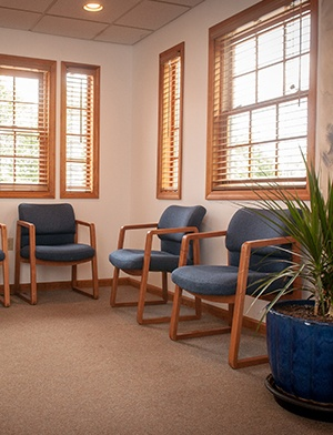 Comfortable patient waiting room